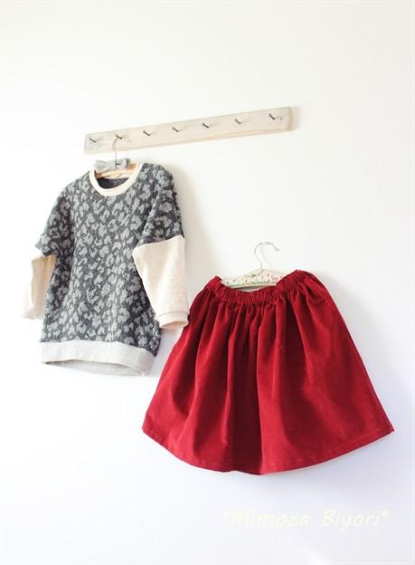 Photos: toco プルオーバーとパタレのギャザースカート