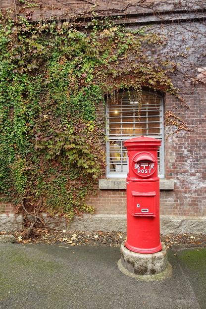 赤煉瓦とポスト