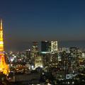写真: 東京タワーの夜景