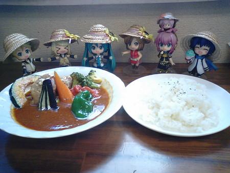 お昼ご飯は、カムイのスープカレーなう♪ かよこさん謹製のハニーガ...