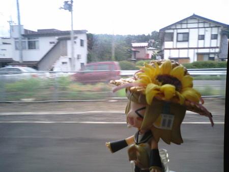 前沢駅に停車。 リン:「もちろん、前沢牛ちゃんのふるさと♪」