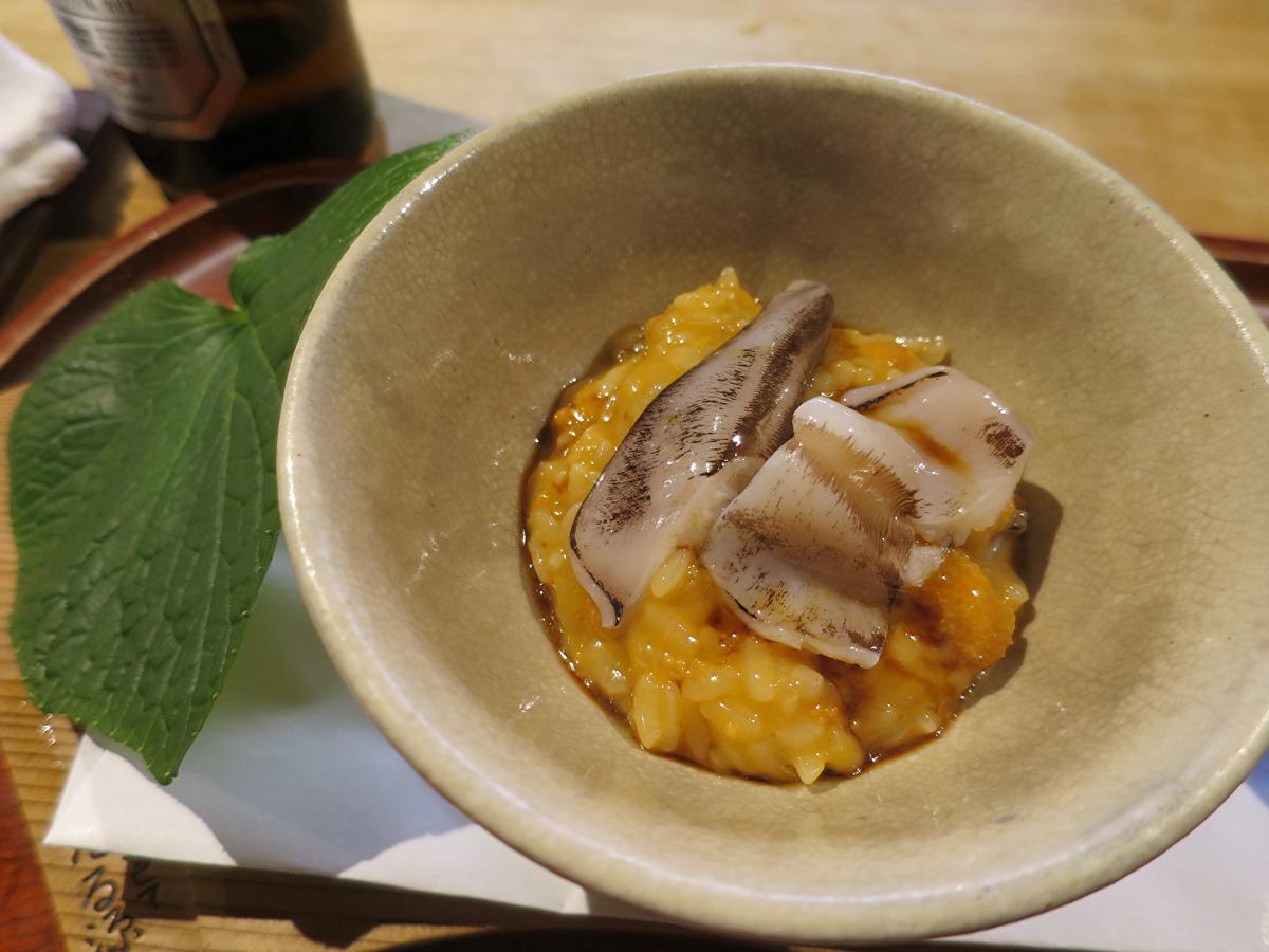 トリ貝と雲丹ご飯
