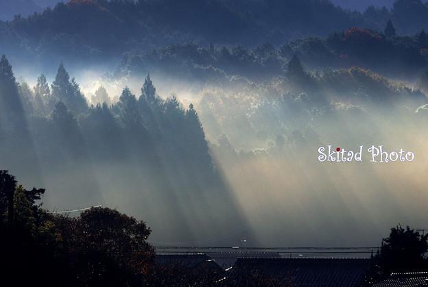 写真: 天からの…