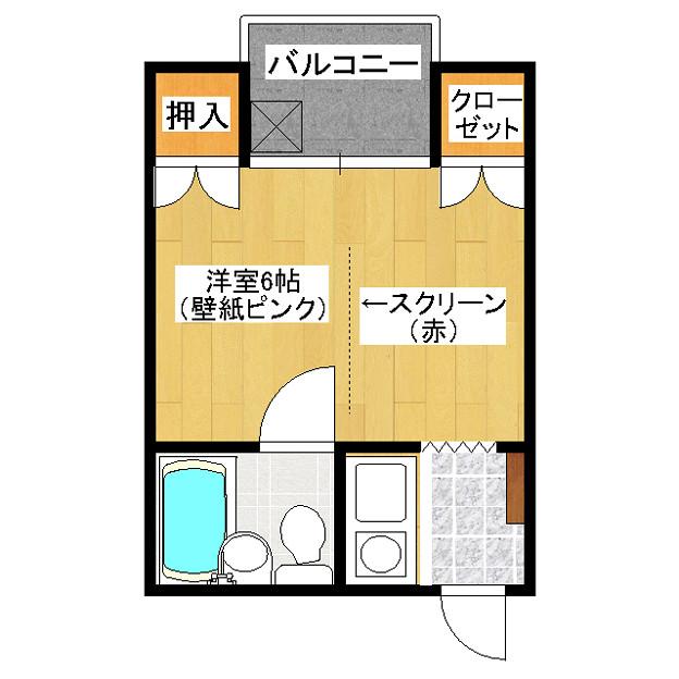 マンション 女性専用 大野ビル 1R 302号 賃料50000円
