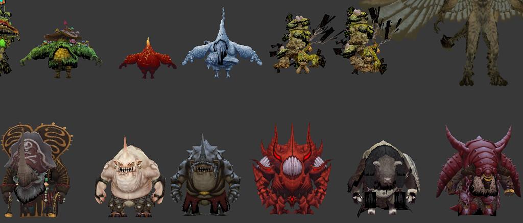 龙之谷96个怪物模型合集