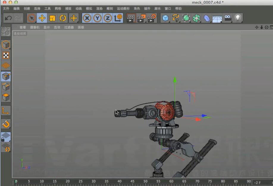 TVart C4D 机器人模型制作视频教程