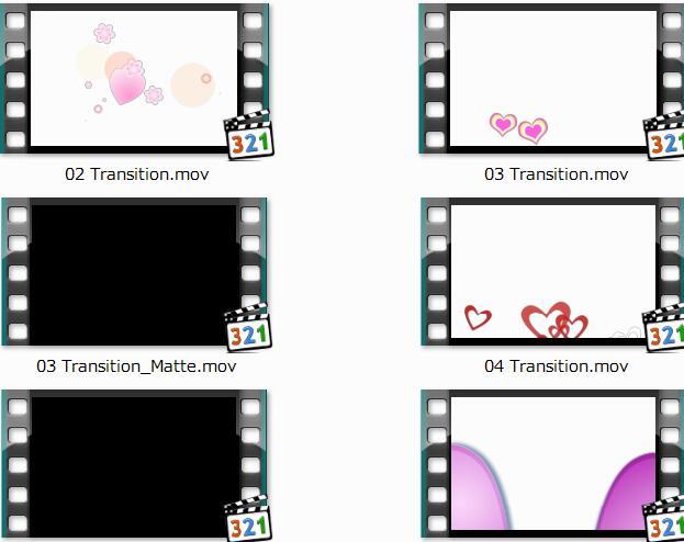 带通道的时尚转场视频素材包附AE源文件