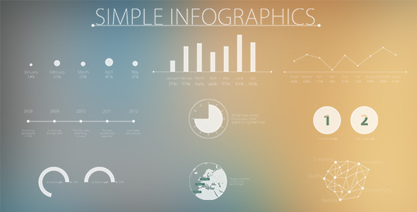 AE模板 简单现代化信息图表 Simple and Modern Infographics