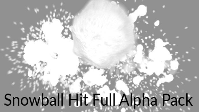 视频素材 雪球砸落溅开(Snowball Alpha Pack)