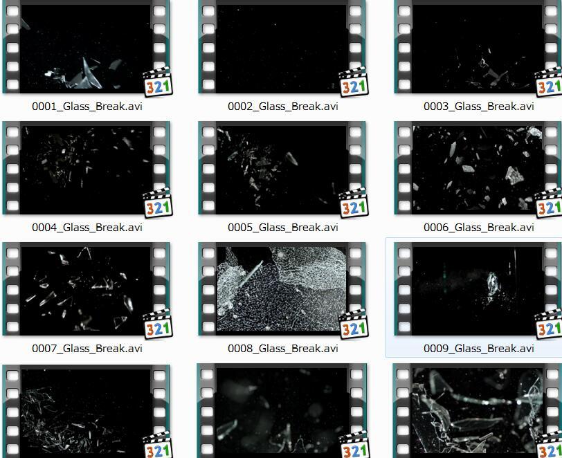 玻璃爆炸打碎视频素材