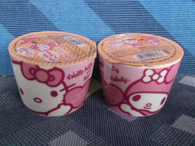 ハローキティ&マイメロディ マグカップゼリー(みかん味)