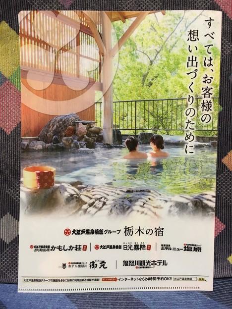 クリアファイル 大江戸温泉物語グループ 栃木の宿