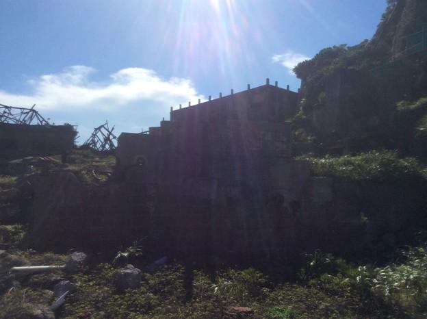 Photos: 軍艦島の建造物1