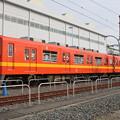 写真: 東武本線8000系 8577F(リバイバルカラー)