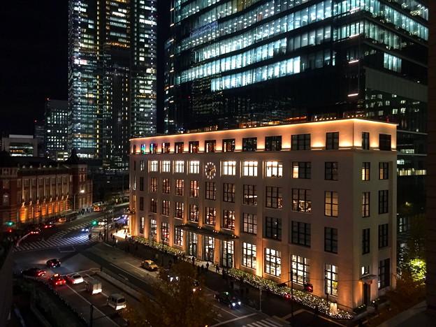 丸の内駅舎と旧東京中央郵便局