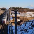 Photos: 富士山を背に