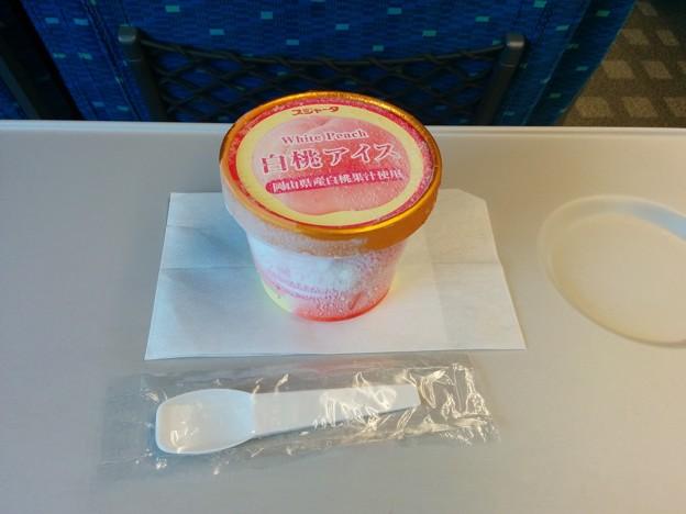 白桃アイス