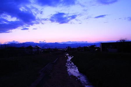 中桜田付近からの夕やけ