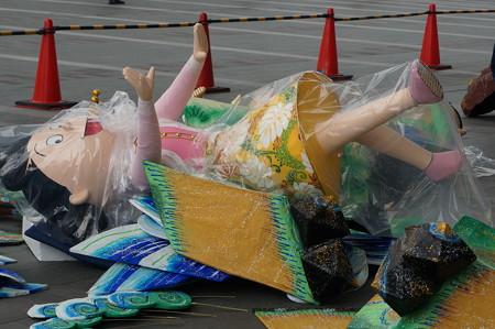 【2014年6月24日撮影】博多祇園山笠 飾り山笠 博多駅 2014年 飾り付けの様子 (9)