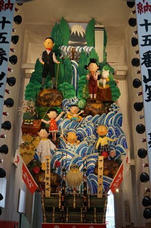15 2014年 博多祇園山笠 飾り山笠 サザエさん 新天町 (4)