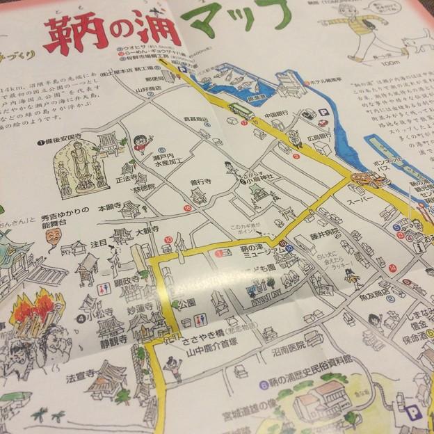 鞆の浦イラストマップ