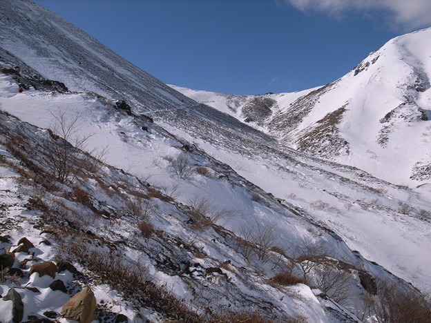 日本の山 雪山講習会 那須茶臼岳 峰の茶屋