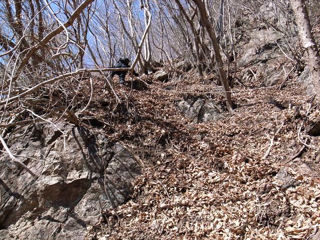 日本の山 西上州の山 高反山 直登ルートの核心部