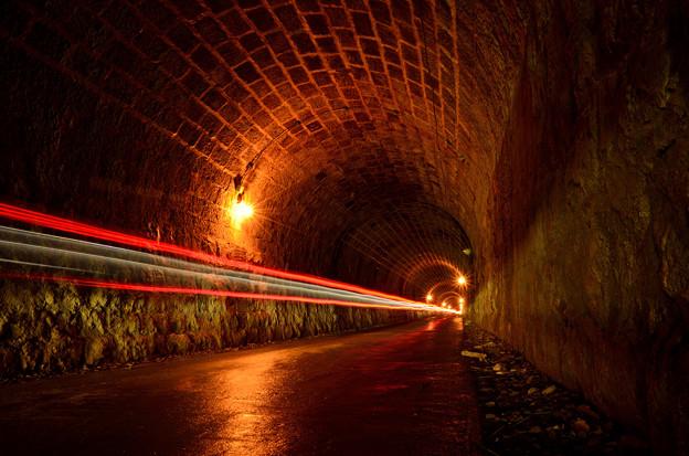 旧天城隧道を駆ける光