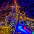 写真: 大江天主堂のイルミを