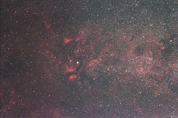 サドル付近の散光星雲群(再処理)