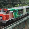 9371レ DD16 11+キハ48形仙ココ「びゅうコースター風っこ」編成 2両+EF64 1053
