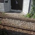 Photos: 江ノ電と玄関 (神奈川県鎌倉市)