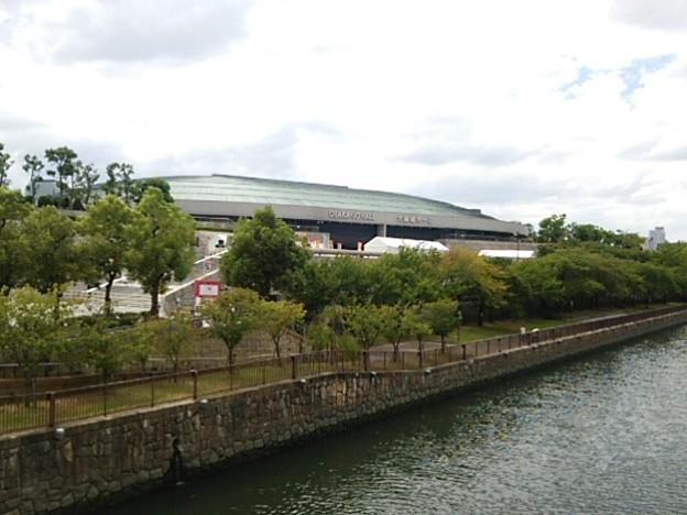 9/3橋の上から撮った初日の大阪城ホール