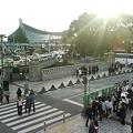 写真: T0010060-原宿駅横広場と代々木第一体育館