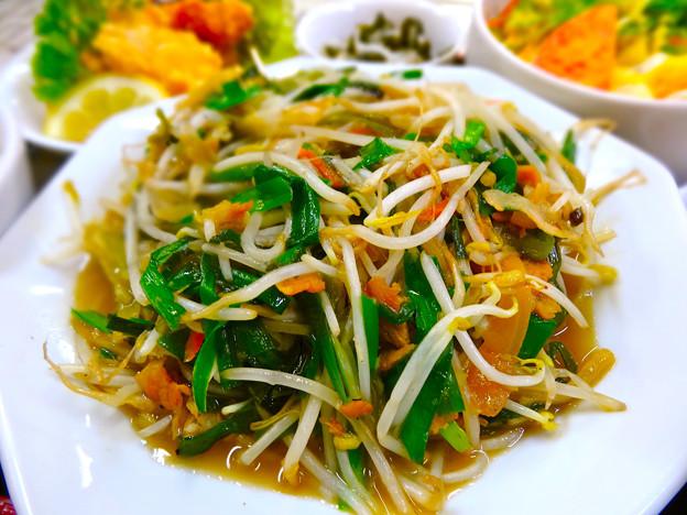 てんしん中華店 日替ランチ ニラともやしの炒め定食 広島市南区的場町 Tianjin