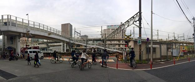 愛宕跨線橋 愛宕踏切 広島市南区松原町 - 猿猴橋町
