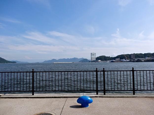 宇品海岸プロムナードからグランドプリンスホテル広島方向 広島市南区宇品海岸3丁目