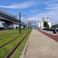 元宇品口電停から東方向 広島市南区宇品海岸2丁目