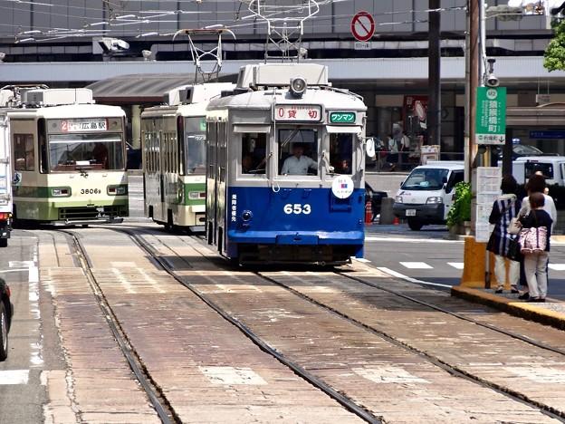 広島電鉄 中国放送 被爆電車 特別運行 プロジェクト 未来へ駆ける653号