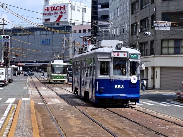 広島電鉄 被爆電車 653号 the a-bombed streetcar