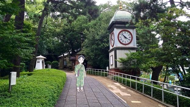 入船山公園 旧呉海軍工廠塔時計 呉市幸町 スマホアプリ 舞台めぐり AR撮影