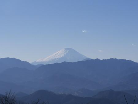 城山より富士山を望む
