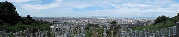 墓地からの眺め・パノラマ撮影