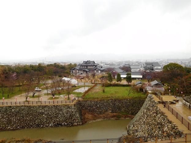 郡山城天守台からの眺め
