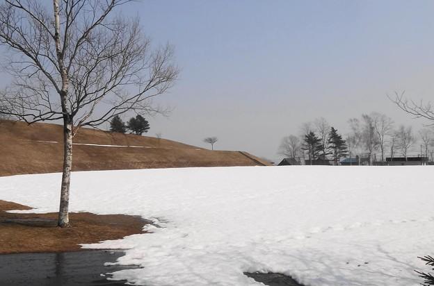 雪が大量に残っている場所も