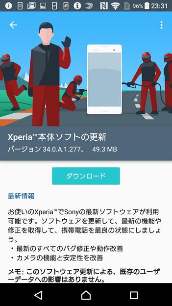 ソフトの更新