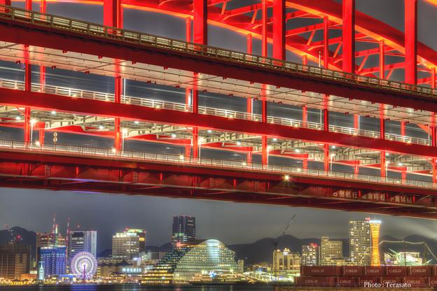 神戸大橋と夜景