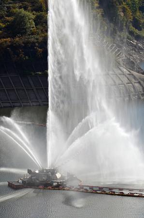 161016寒河江ダムの噴水01