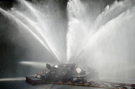 161016寒河江ダムの噴水02