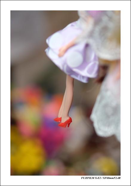 赤いハイヒール